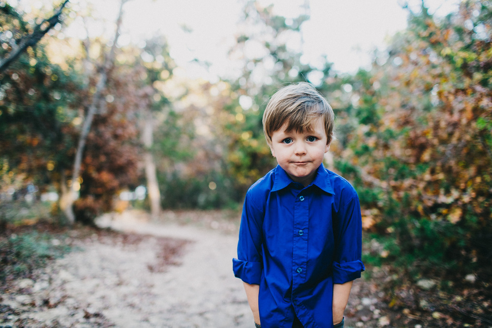 Adorable Well Dressed Boy | Walnut Creek Park Austin, Texas | Lisa Woods Photography