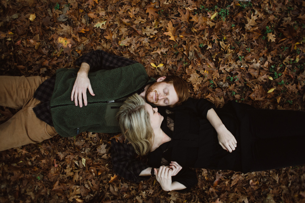 Fall Leaves | Engagement Session | Lisa Woods Photography