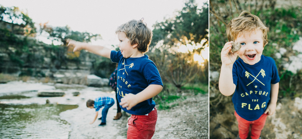 Family Portrait with Boys Playing | Lisa Woods Photography