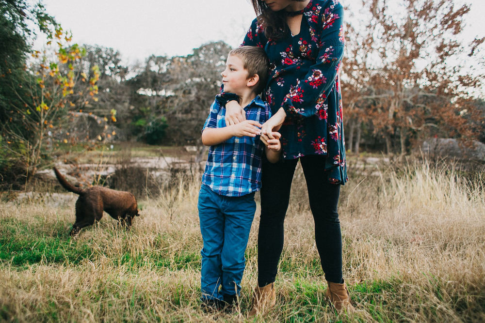 Mother & Son | Bull Creek Park, Austin Texas | Lisa Woods Photography