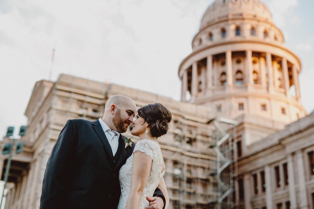 wedding photo at the austin capitol