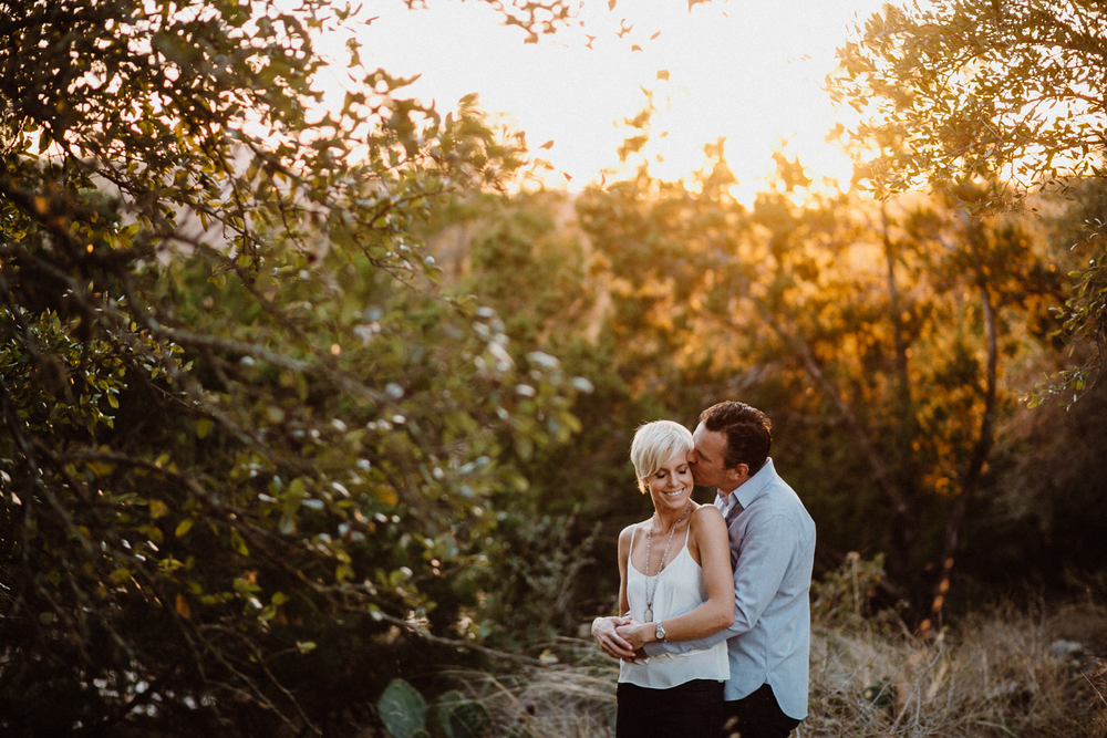 golden hour engagement photo