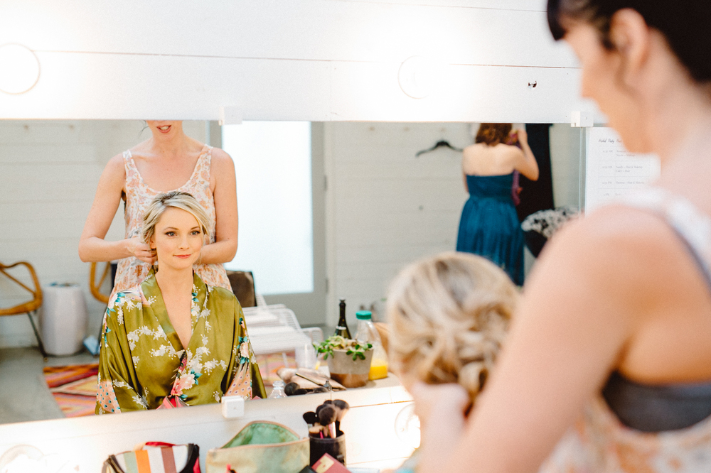 bride getting ready at prospect house