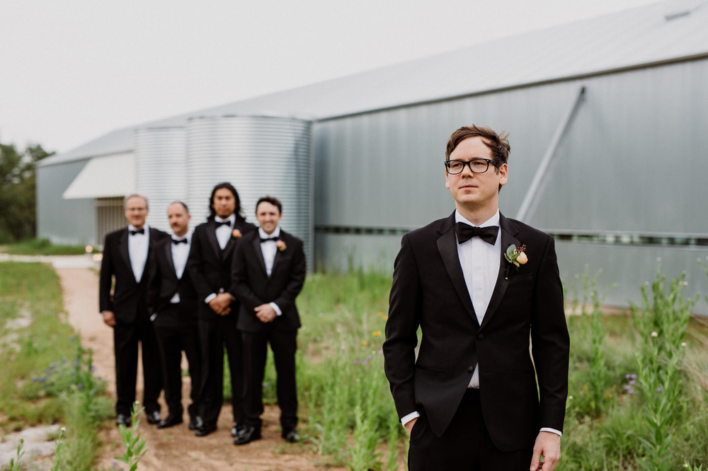 groom and groomsmen at prospect house