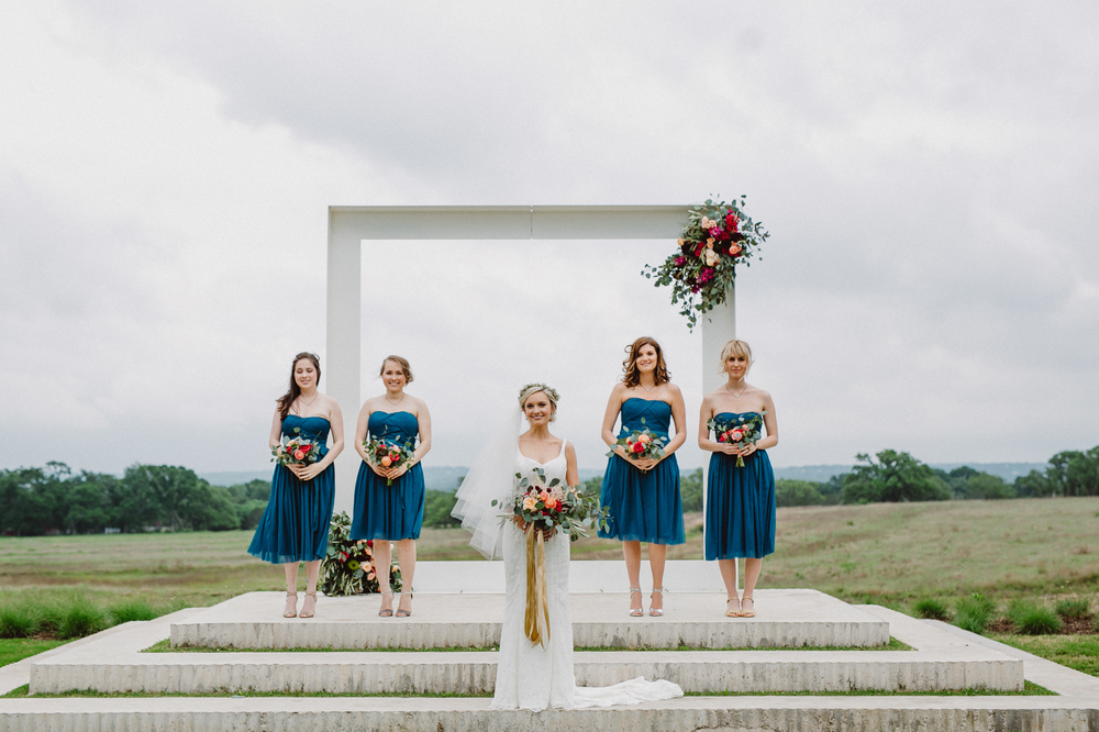 bride and bridesmaids at prospect house