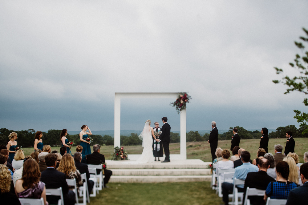 ceremony outside at prospect house