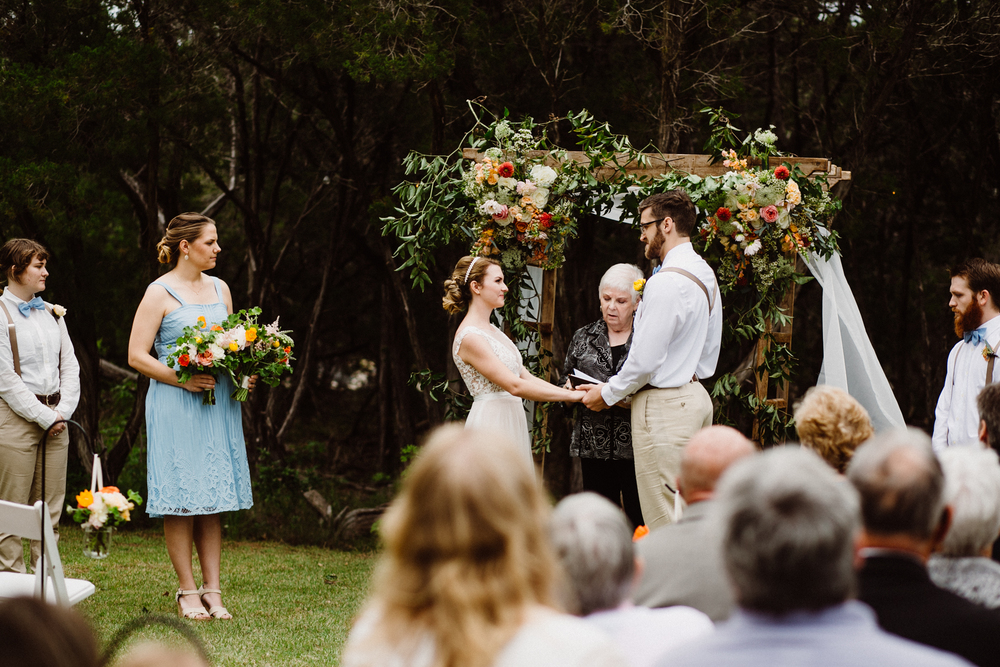 star hill ranch wedding ceremony outside