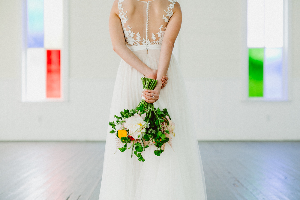 star hill ranch indoor bridal portrait