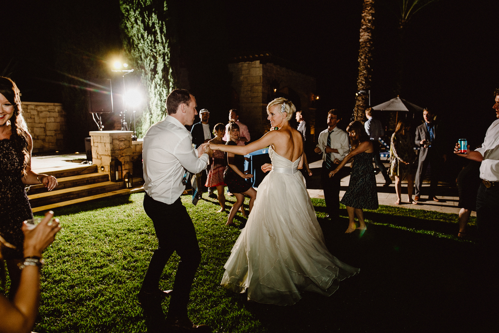 austin backyard wedding dancing