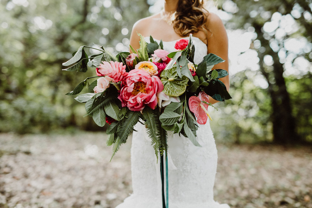 boho floral theme austin wedding