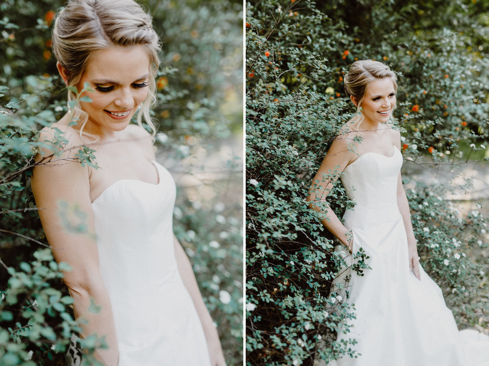 bride at mayfield park in austin