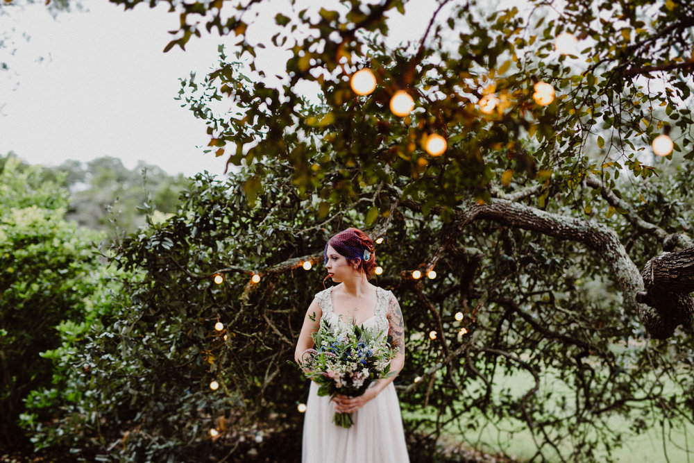 bride at wildflower barn