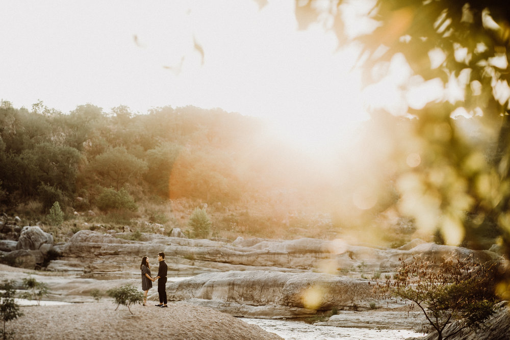pedernales falls engagement picture