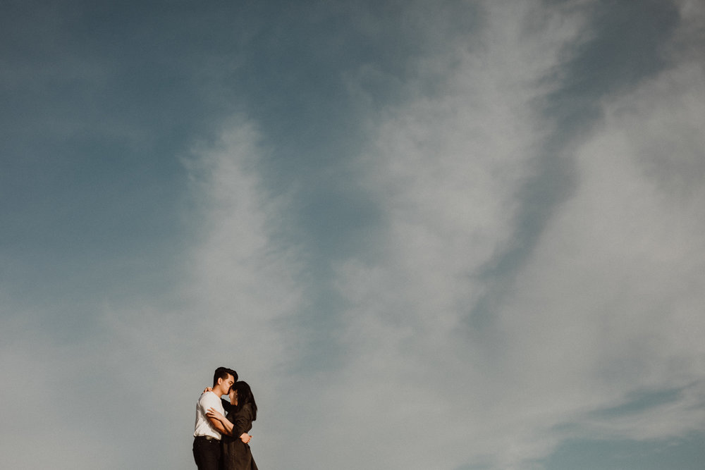 negative space engagement picture
