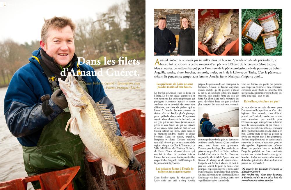 Arnaud Guéret, pêcheur de Loire.Cliquez ici pour accéder au document.
