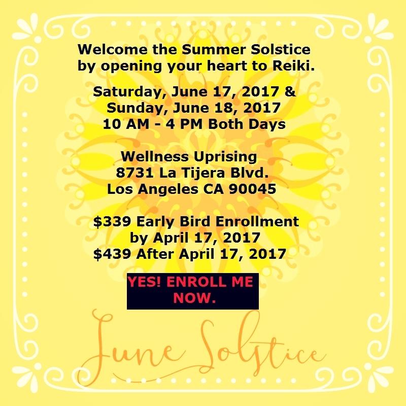 Longer daylight hours make summer the perfect time to increase productivity and learn something new. Join us as we welcome new healers to the tradition of Usui Reiki.