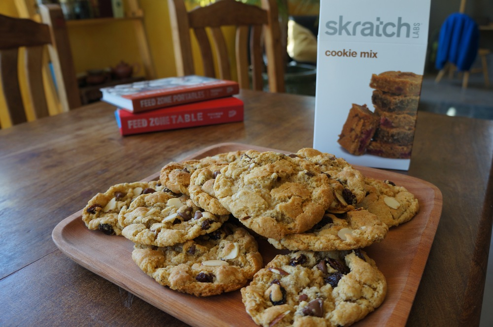 Skratch Labs Cookie Mix.  This was put together by their chef, Lentine.  Every time I make these I secretly profess my love to her.  Simple to make and not full of a bunch of bullshit.  Perfection.
