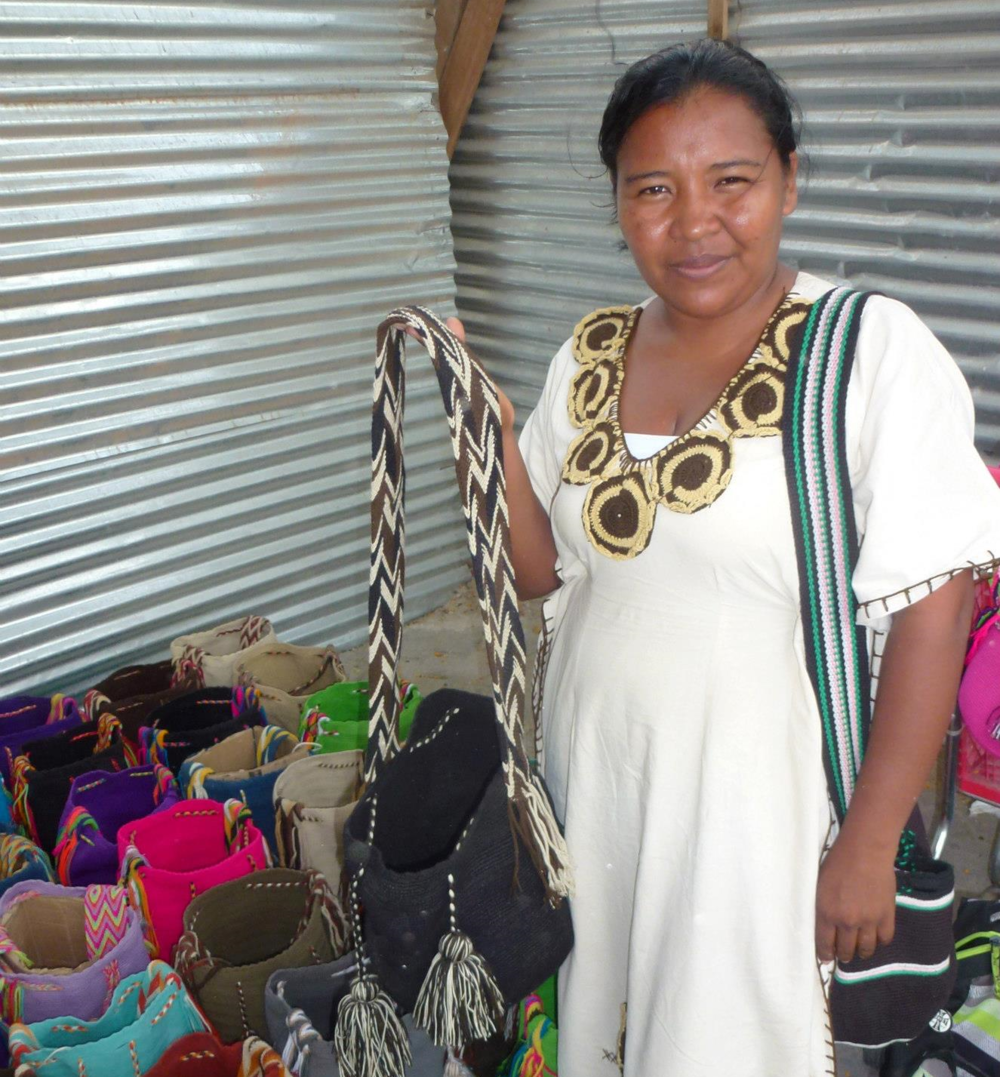 Marisa  Aruchapan with her mochilas.
