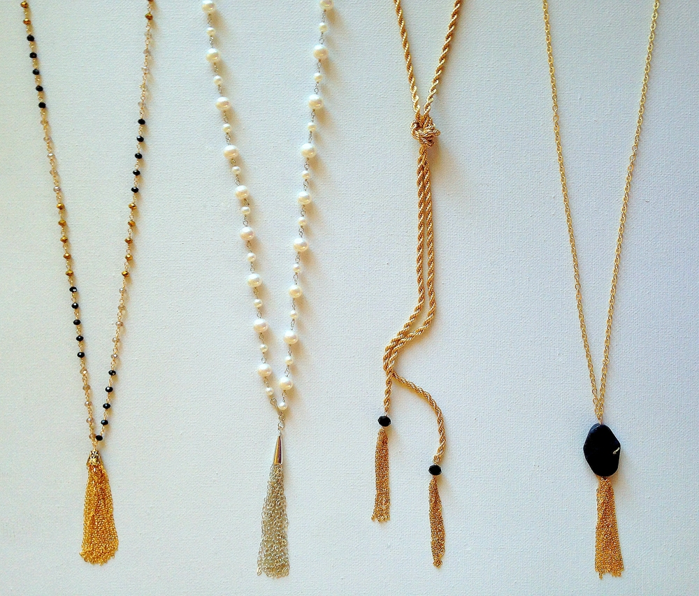 A Row of Tassel Necklaces