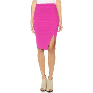 I absolutely adore this Elizabeth and James skirt.  It's sexy without showing too much skin.  And I think the pink adds the perfect feminine touch.  Would love to pair this dress with a soft floral silk blouse and Stuart Weitzman nudist heels!
