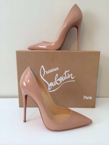 Christian Louboutin beige pumps,