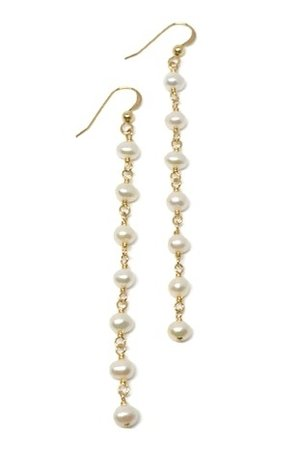 pearl boy fashion wire cherie drop earrings long gold filled newarrivals wrapped jewelry