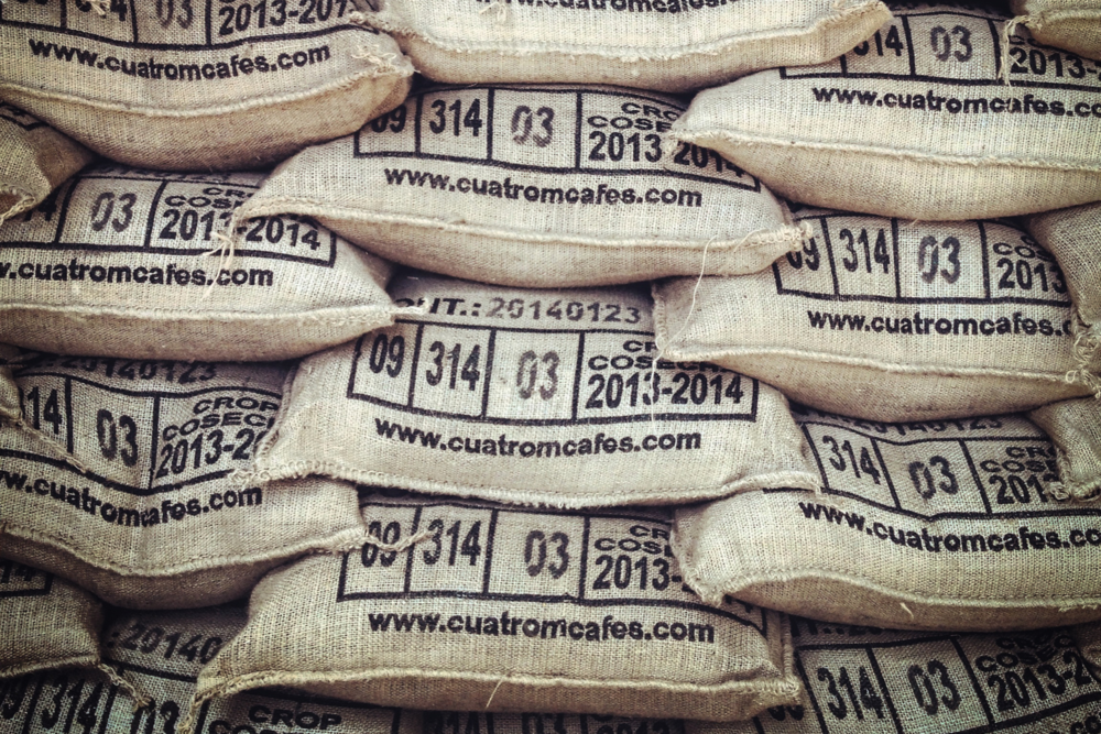Sacs Coffee Is Shipped In Burlap For All Of El Salvador And Most