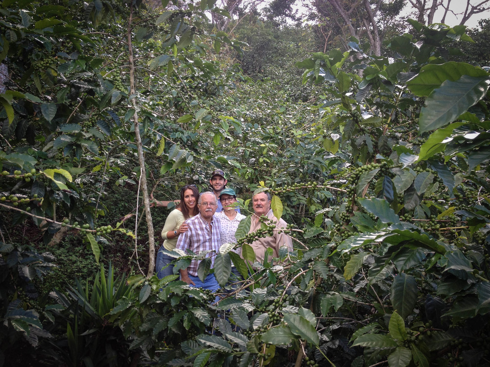Dana and Emilio with the Ortiz Family, at Finca San Jorge.