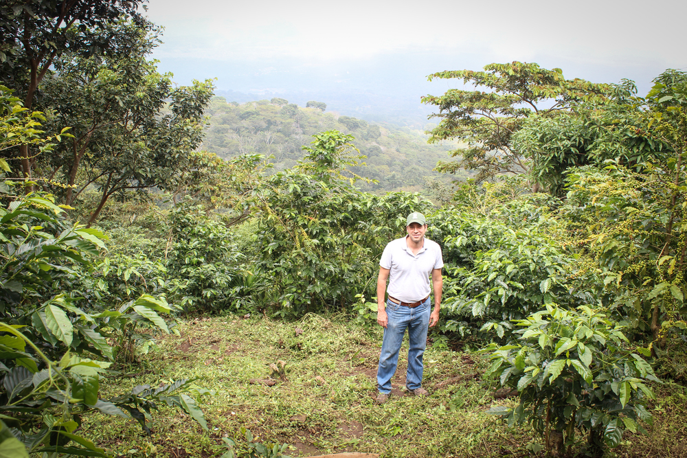 Farm Manager - Alejandro Martinez, at one of the highest points of Finca Argentina.