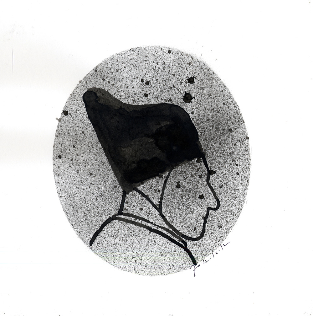 Drawing #18  , 2013, india ink on paper, 12 x 12 in.