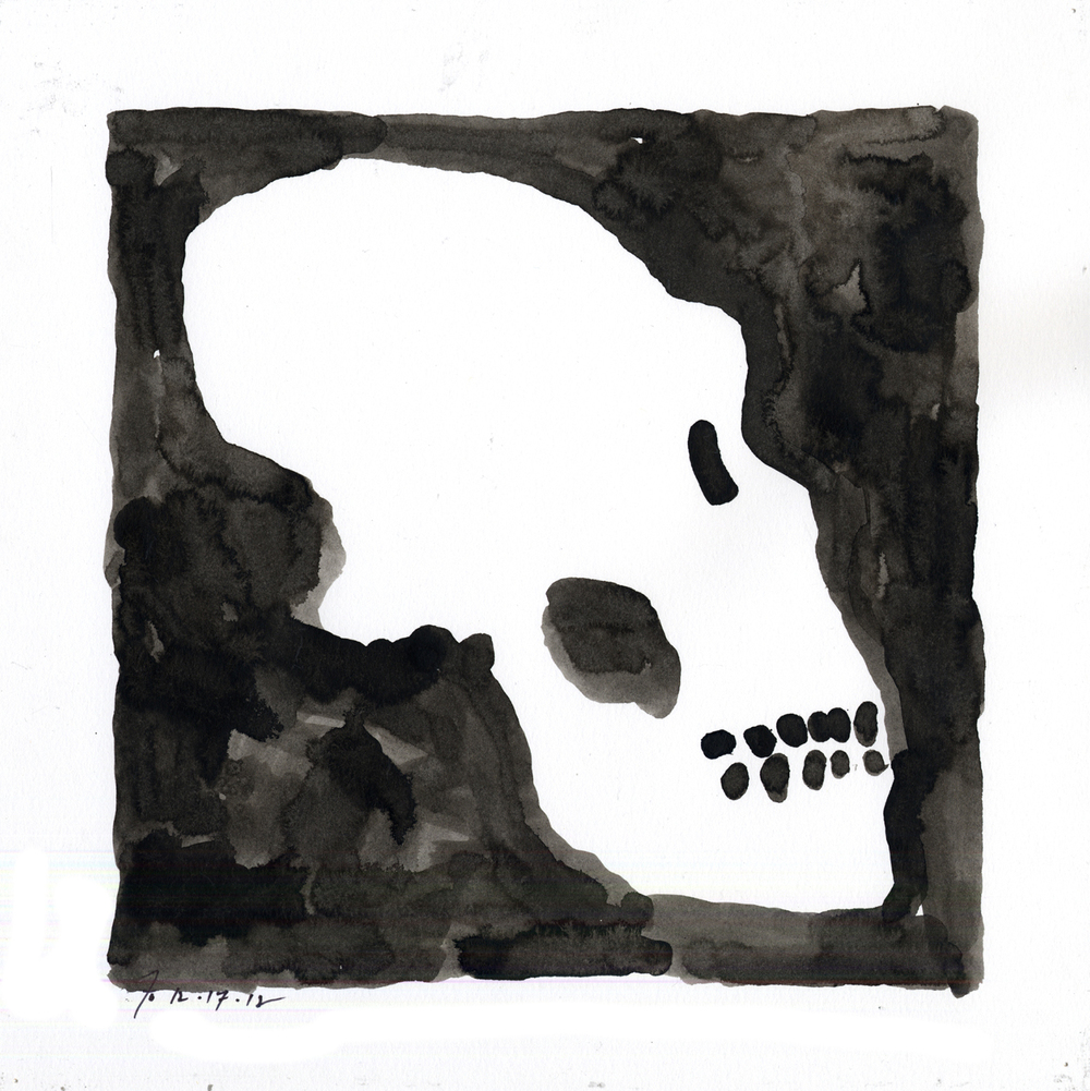 Drawing #32  , 2013, india ink on paper, 12 x 12 in.