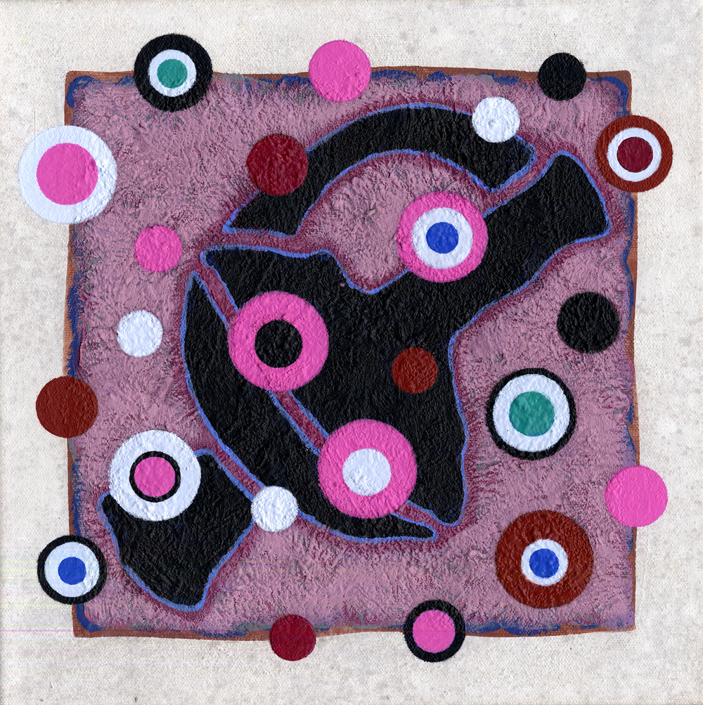 S190/Sq70  , 2012, oil and wax on canvas, 12 x 12 in.
