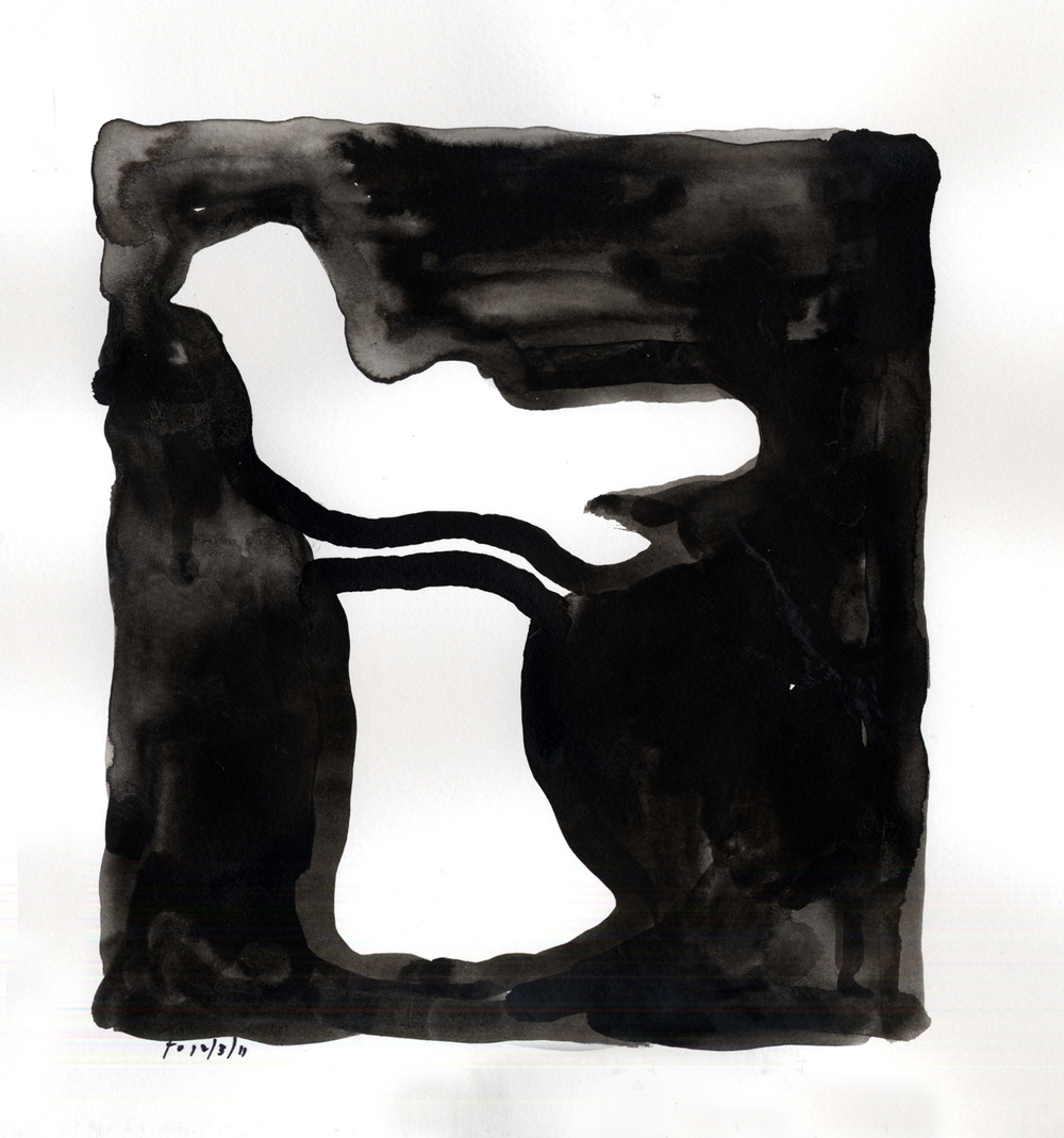 Drawing #6  , 2012, India ink on paper, 12 x 12 in.