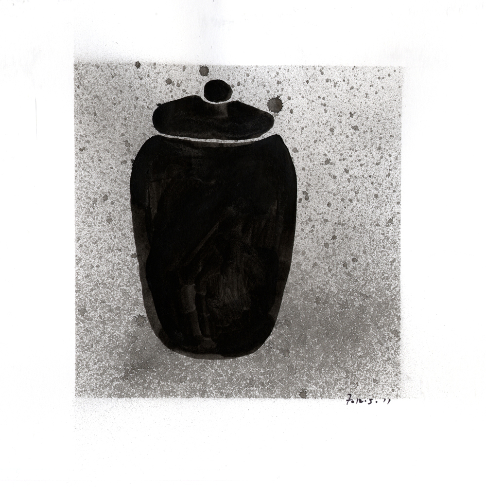 Drawing #3  , 2012, india ink on paper, 12 x 12 in.