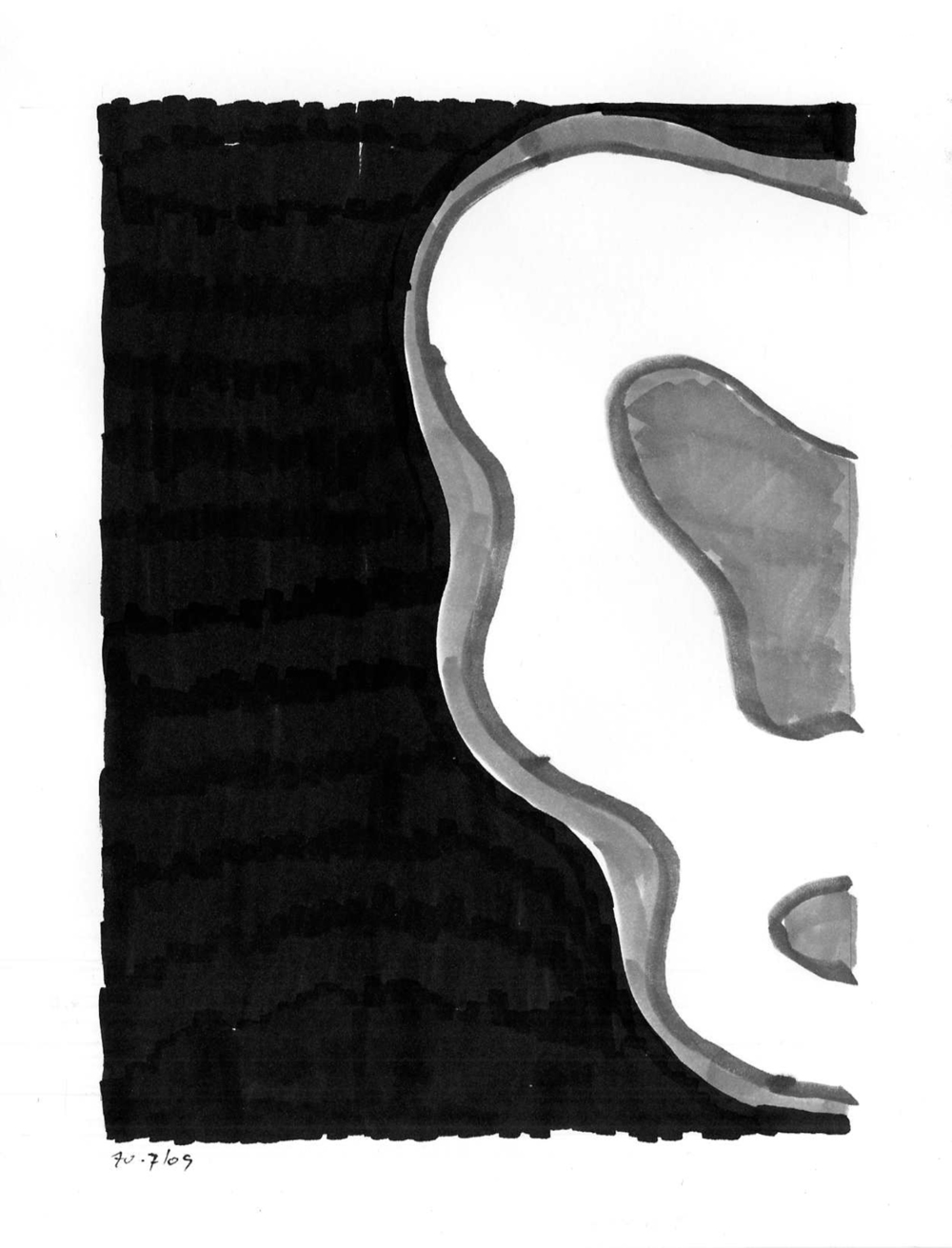 ii09_03  , 2009, india ink on paper, 12 x 9 in.