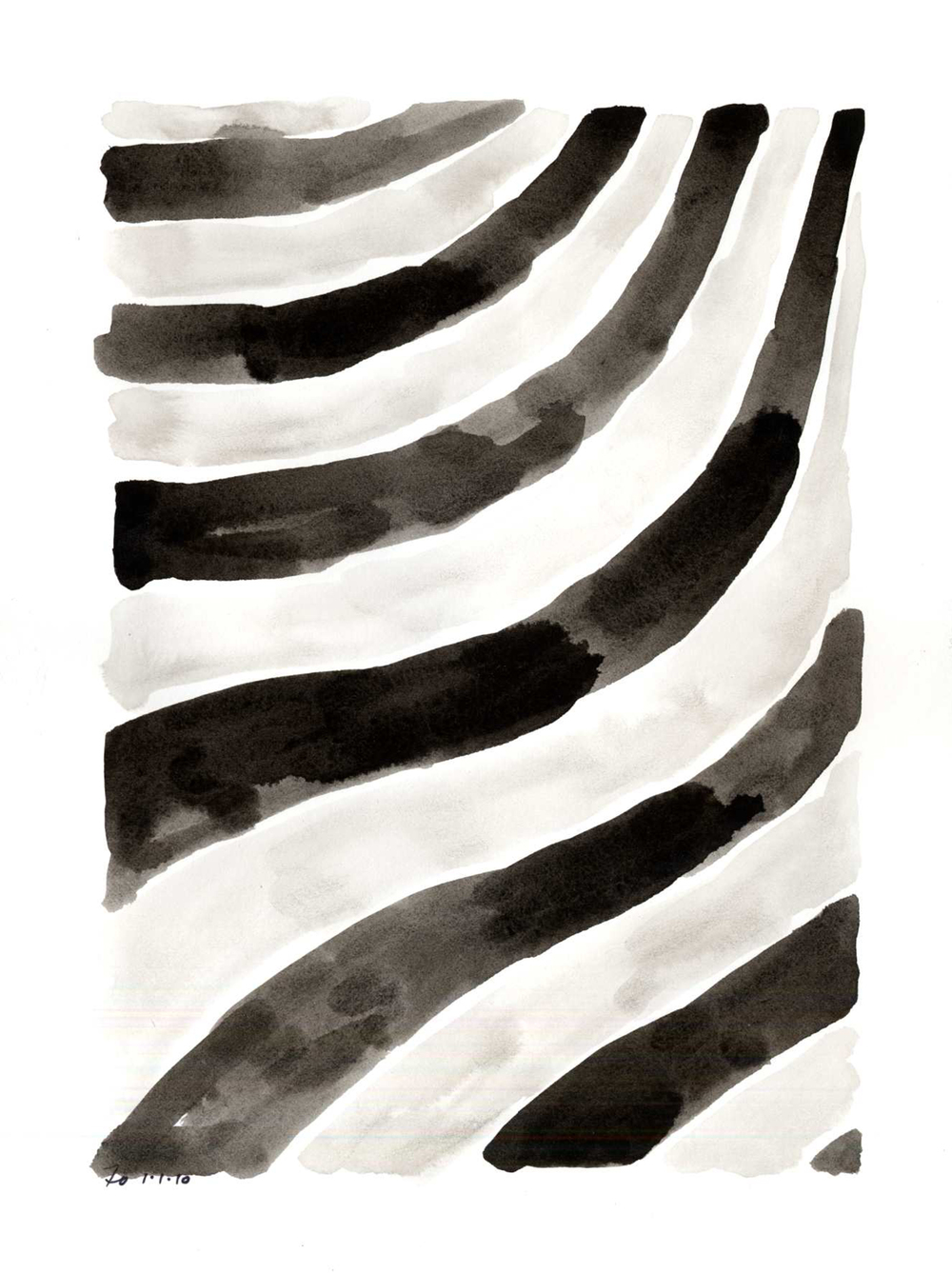 ii10_08  , 2008, india ink on paper, 12 x 9 in.