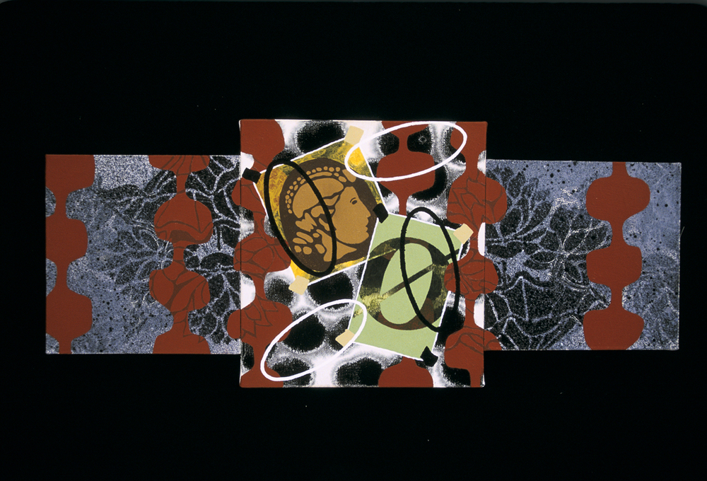Triptych 5  , 2002, oil and wax on canvas, 12 x 30 in.