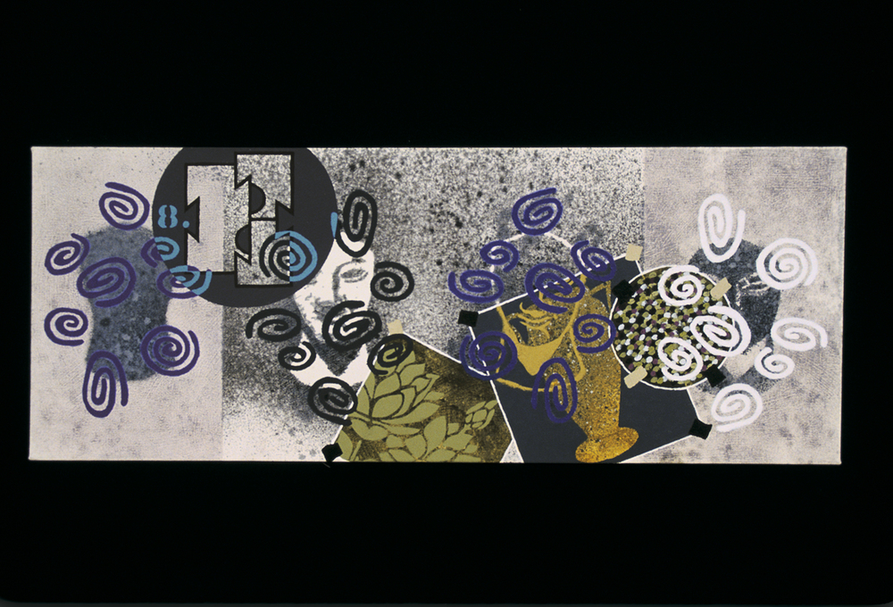Triptych 3  , 2000, oil and wax on canvas, 12 x 36 in.