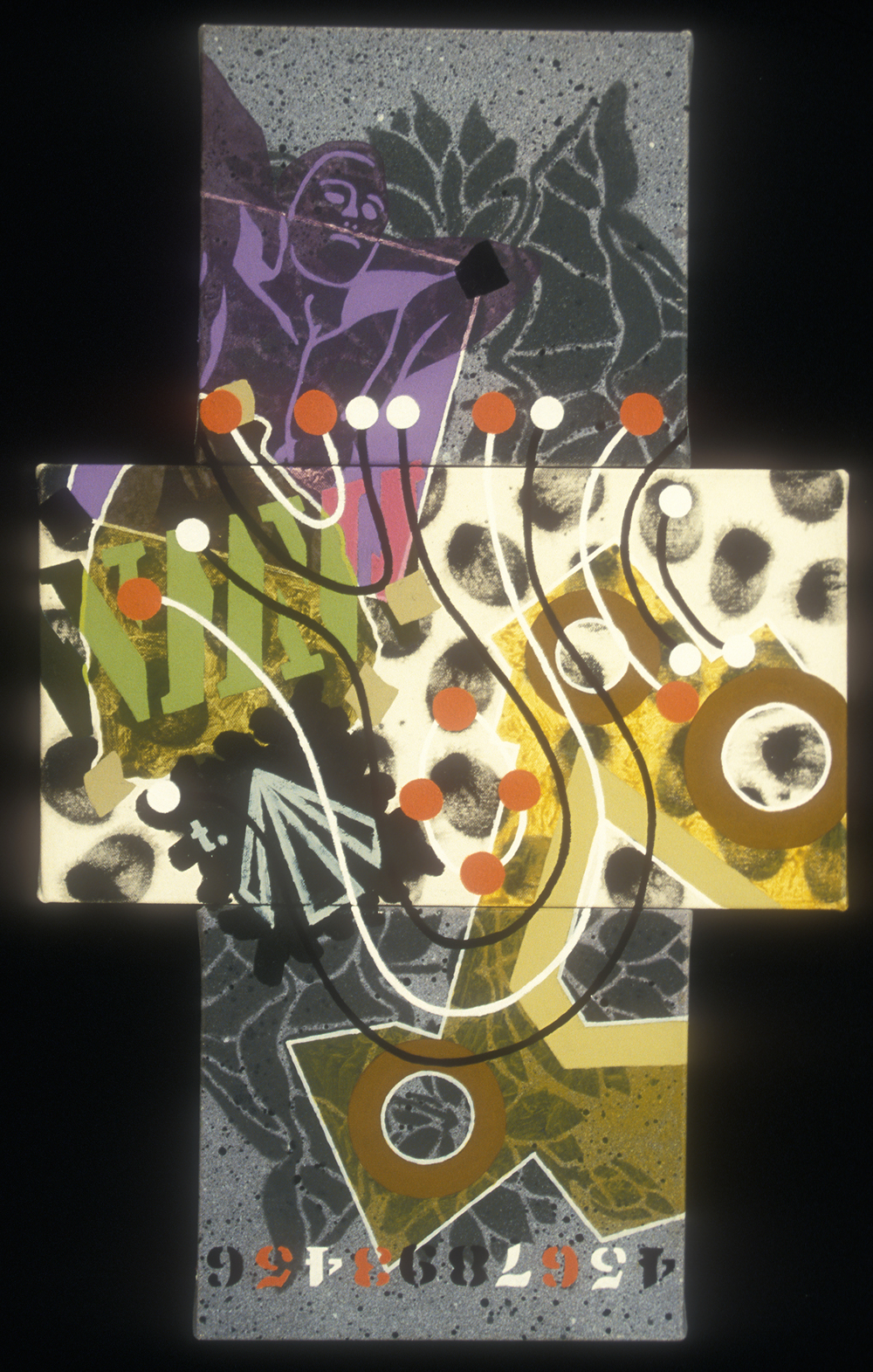 Triptych 20  , 2002, oil and wax on canvas, 40 x 24 in.