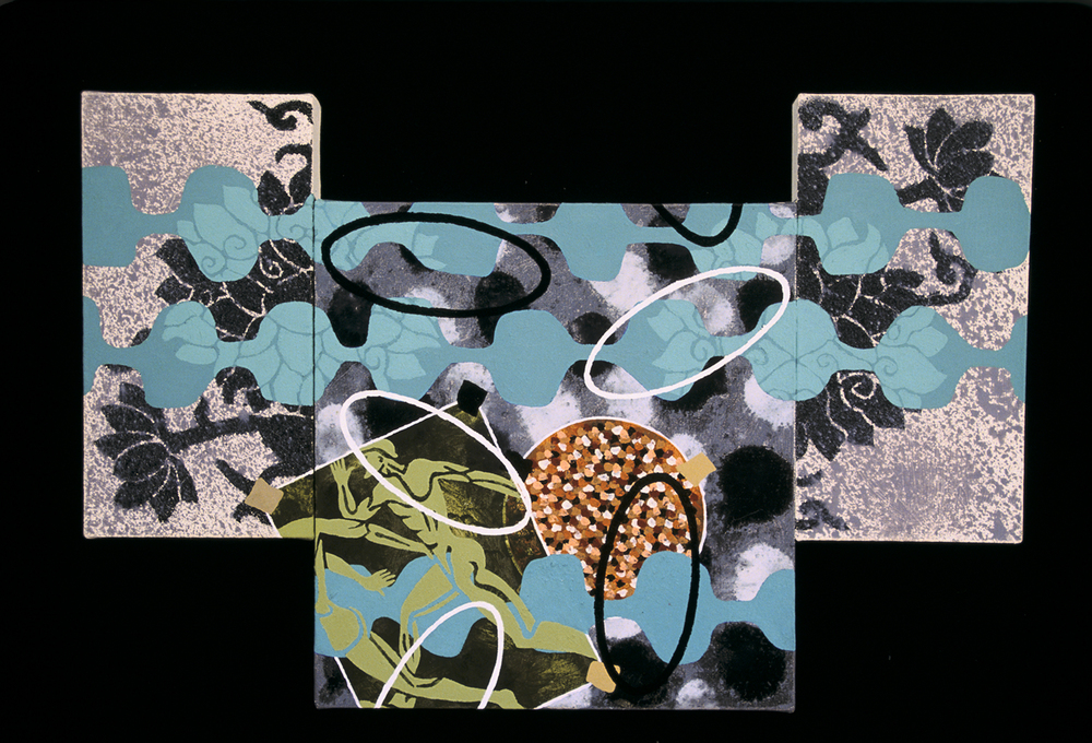 Triptych 9  , 2001, oil and wax on canvas, 14 x 24 in.