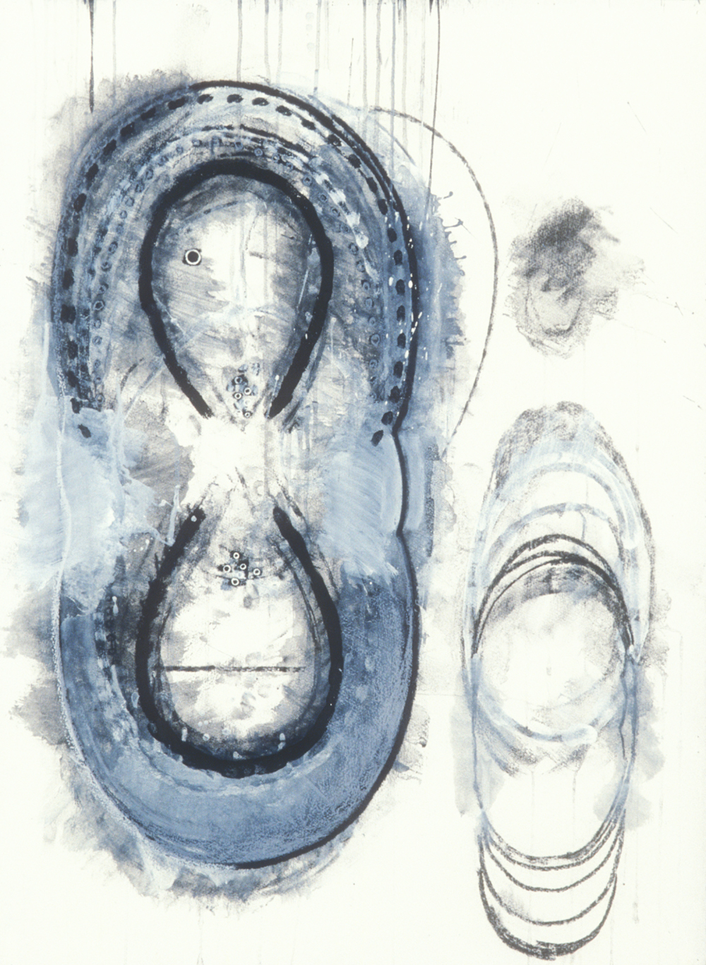 Elemental 9  , 1989, mixed media on paper, 29.5 x 21.5 in.