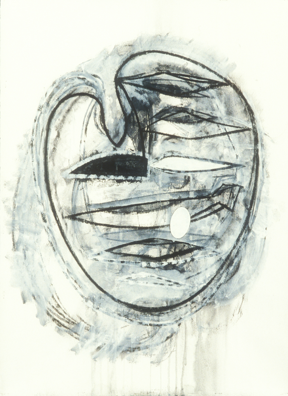 Elemental 17  , 1990, mixed media on paper, 29.5 x 21.5 in.