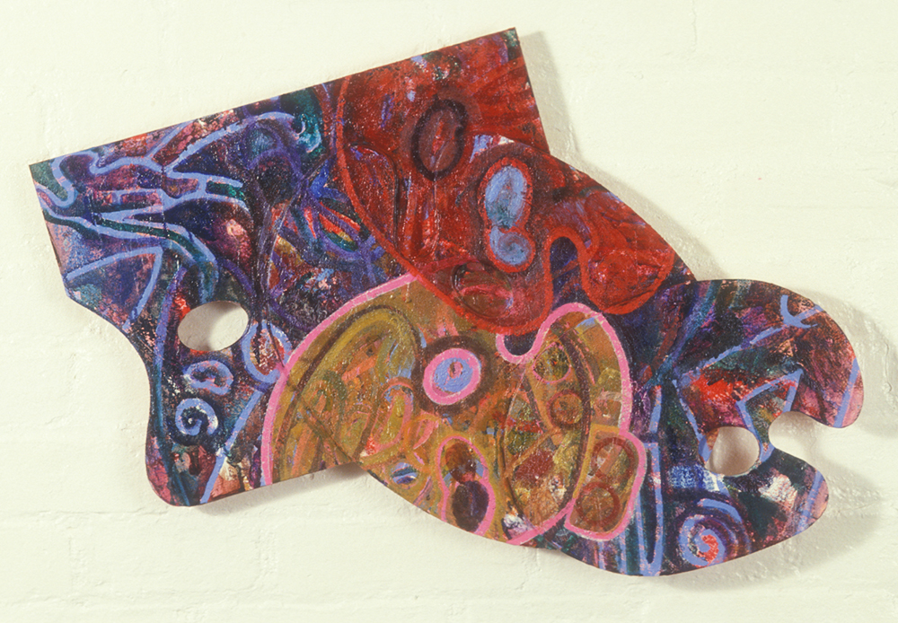 Palette 1  , 1987, oil and wax on wood, 18 x 24 in.