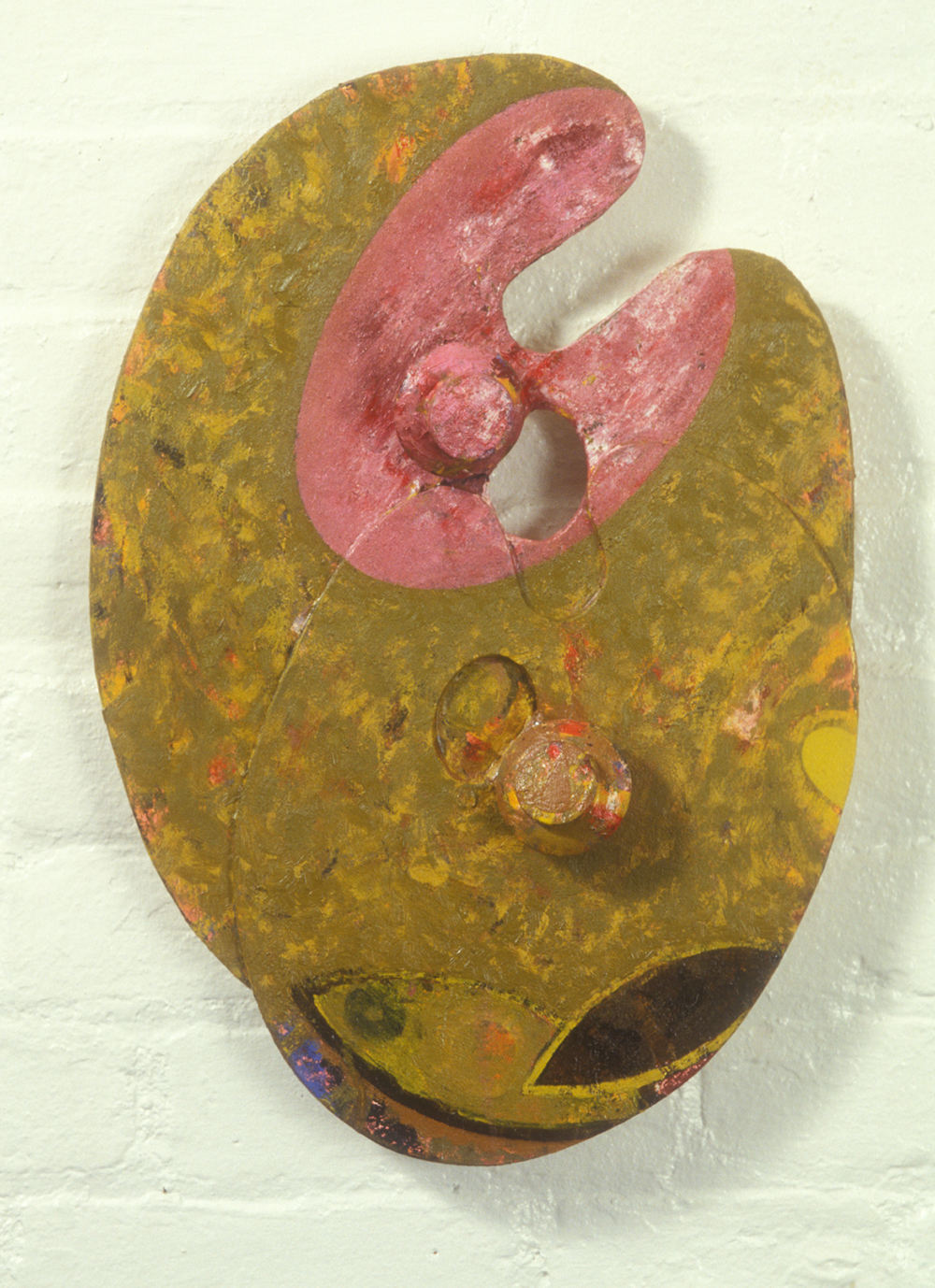 Palette 17  , 1988, oil and wax on wood, 15 x 13 in.