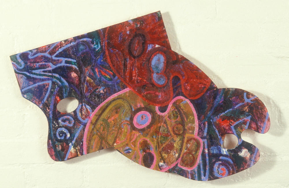 Palette 25  , 1988, oil and wax on wood, 18 x 30 in.