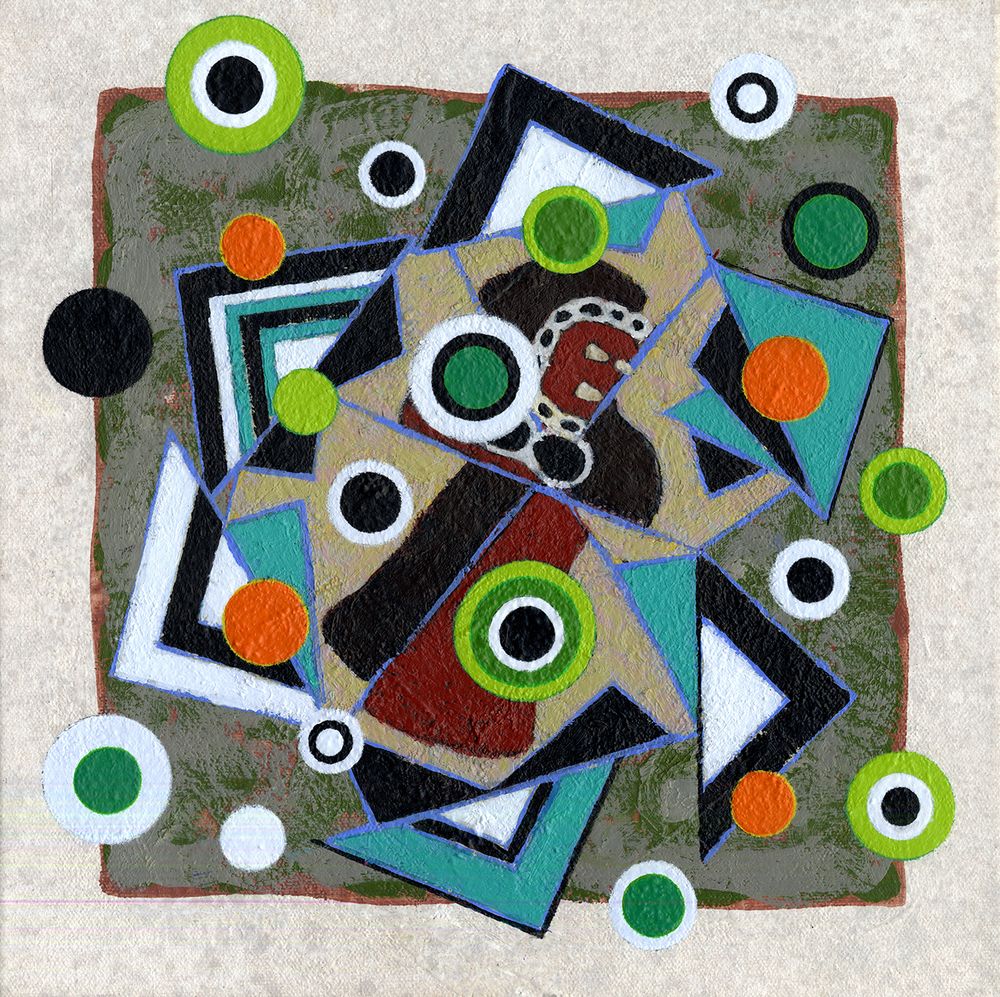S188/Sq68   2012, oil and wax on canvas, 12 x 12 in.