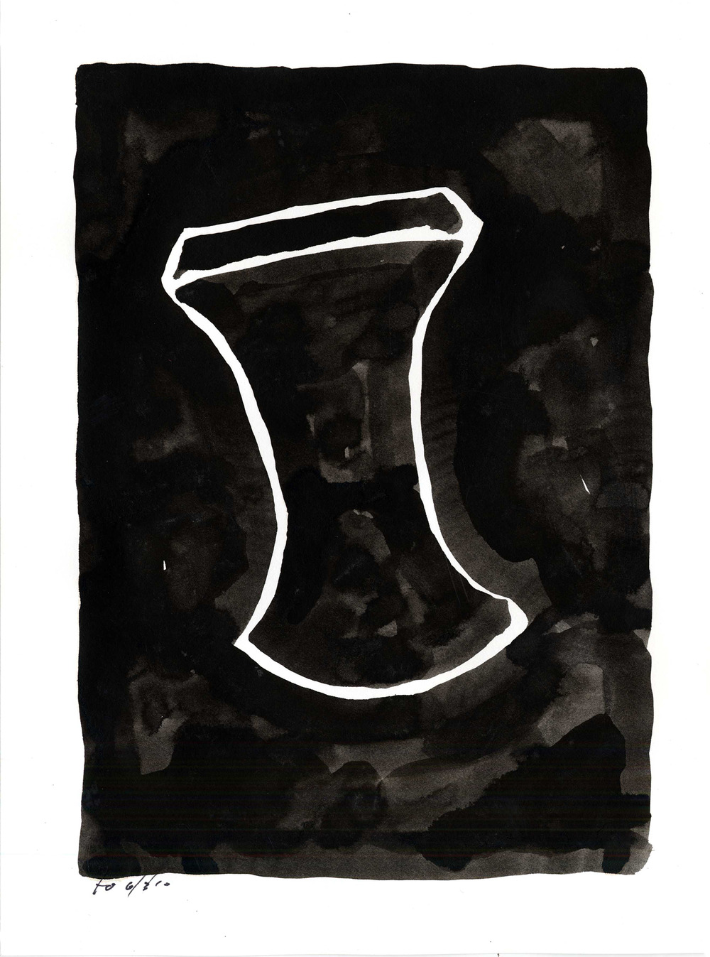 ii020  , 2010, india ink on paper, 12 x 9 in