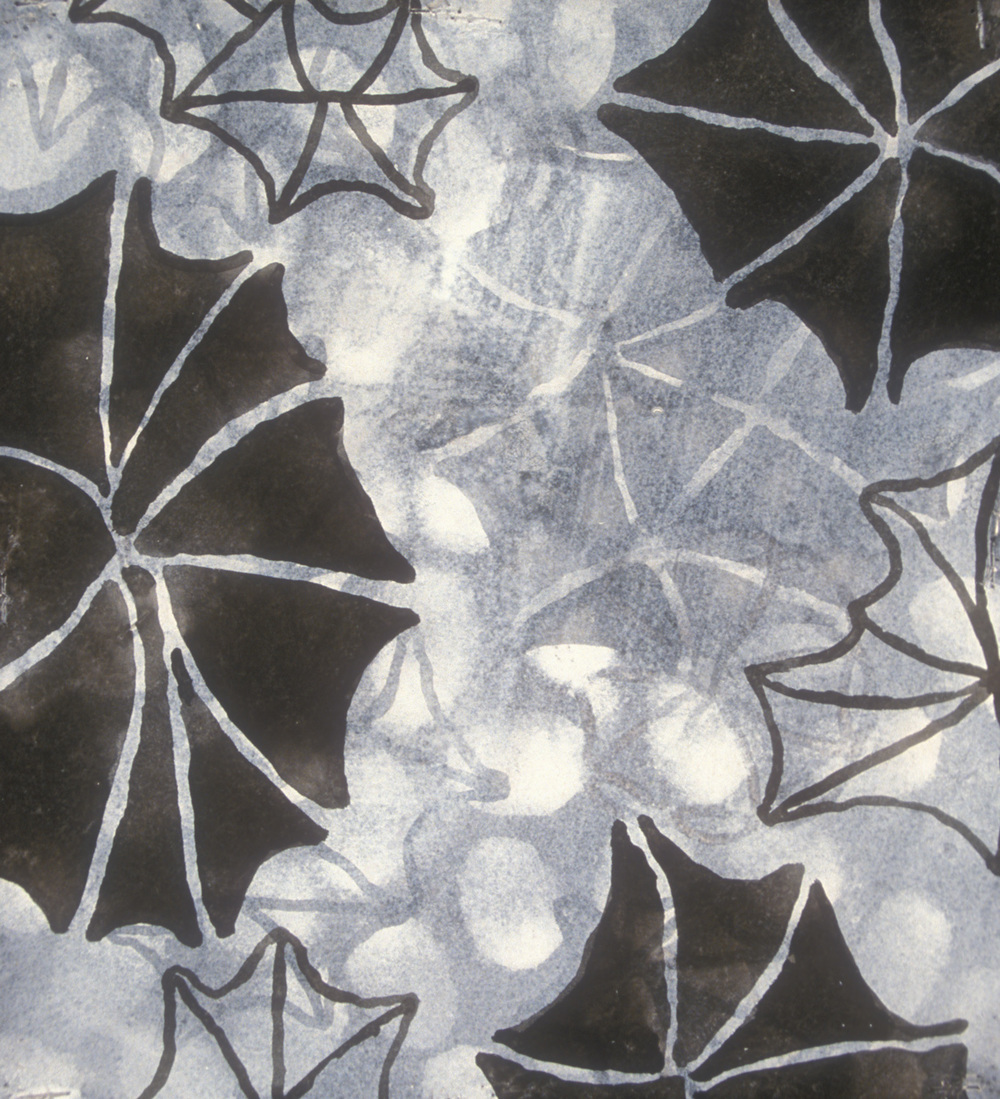 Aquatic 9  , 2003, india ink and gesso on paper, 16 x 14 in.