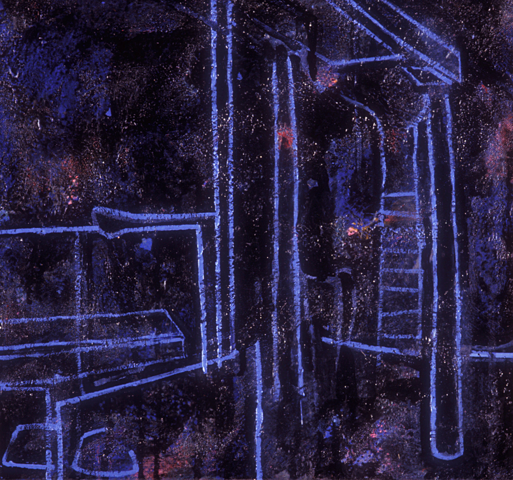 Pillar  , 1988, oil and wax on canvas, 10 x 12 in.