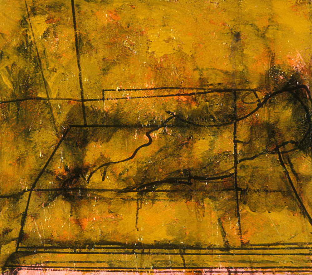 Yellow Bone,   1989, oil and wax on canvas, 10 x 12 in.